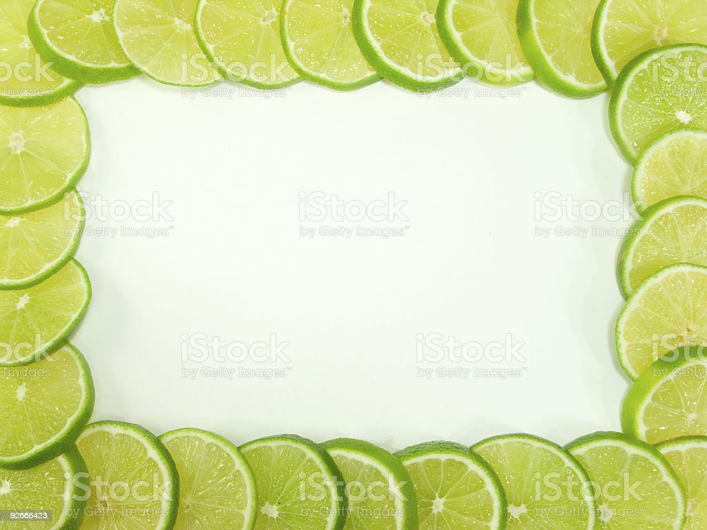 Lime Slice Frame royalty-free stock photo