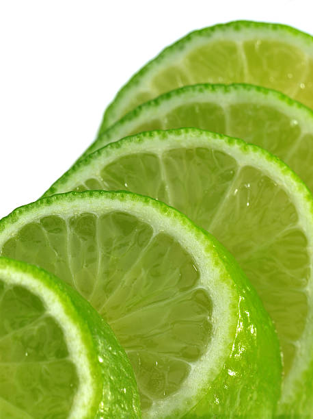 Lime slices. stock photo