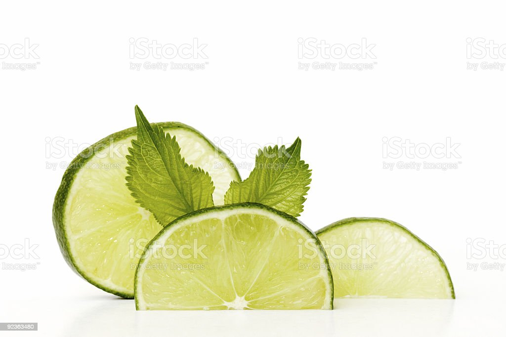 Lime slices royalty-free stock photo