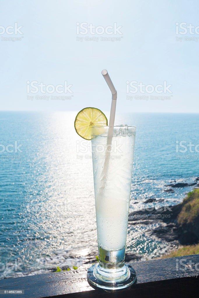 Lime soda stock photo