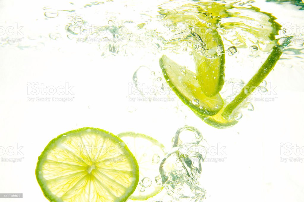 Lime splash royalty-free stock photo