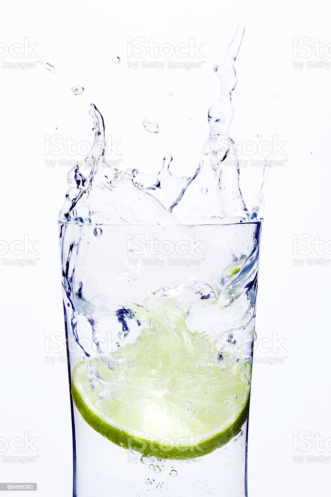 lime splash #1 royalty-free stock photo