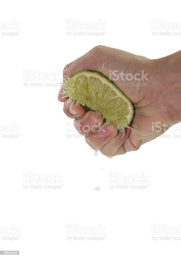 Lime Drücke - Lizenzfrei Daumen Stock-Foto