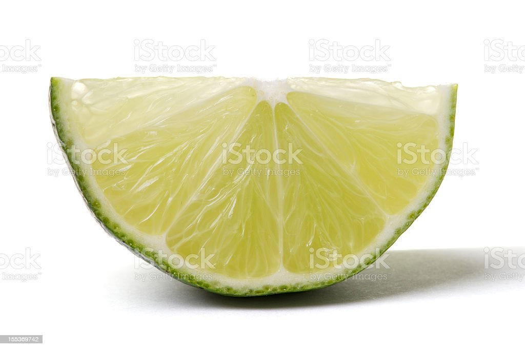 Lime Wedge royalty-free stock photo
