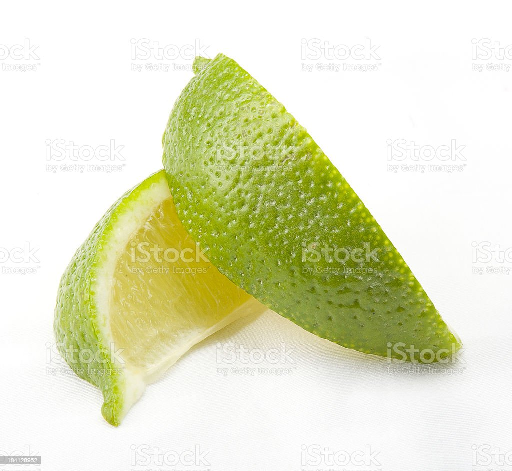 lime wedges stock photo