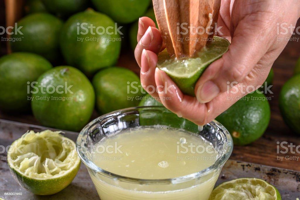 Lime,Lemon juice foto de stock royalty-free