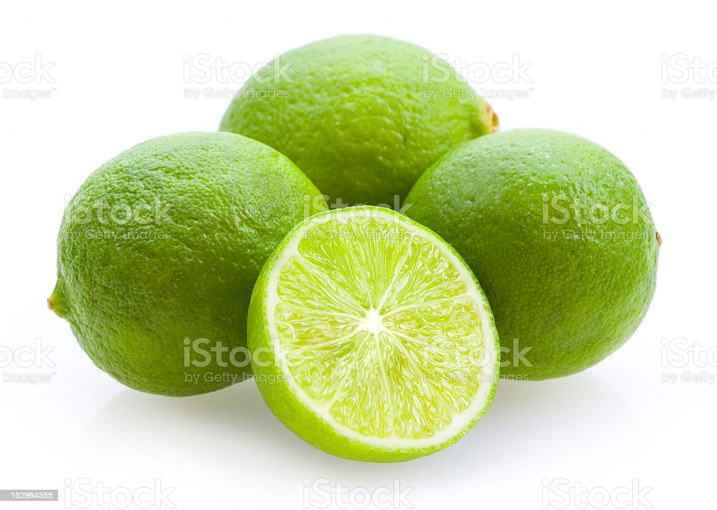 limequats (small limes) stock photo