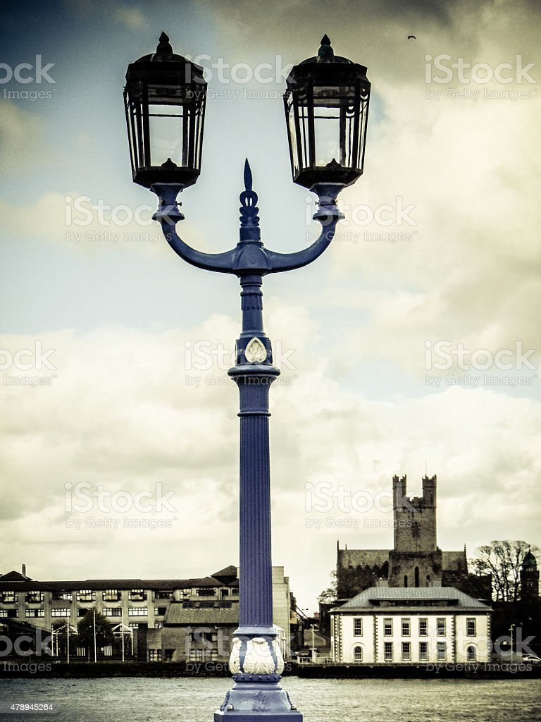 Limerick bridge lamps stock photo