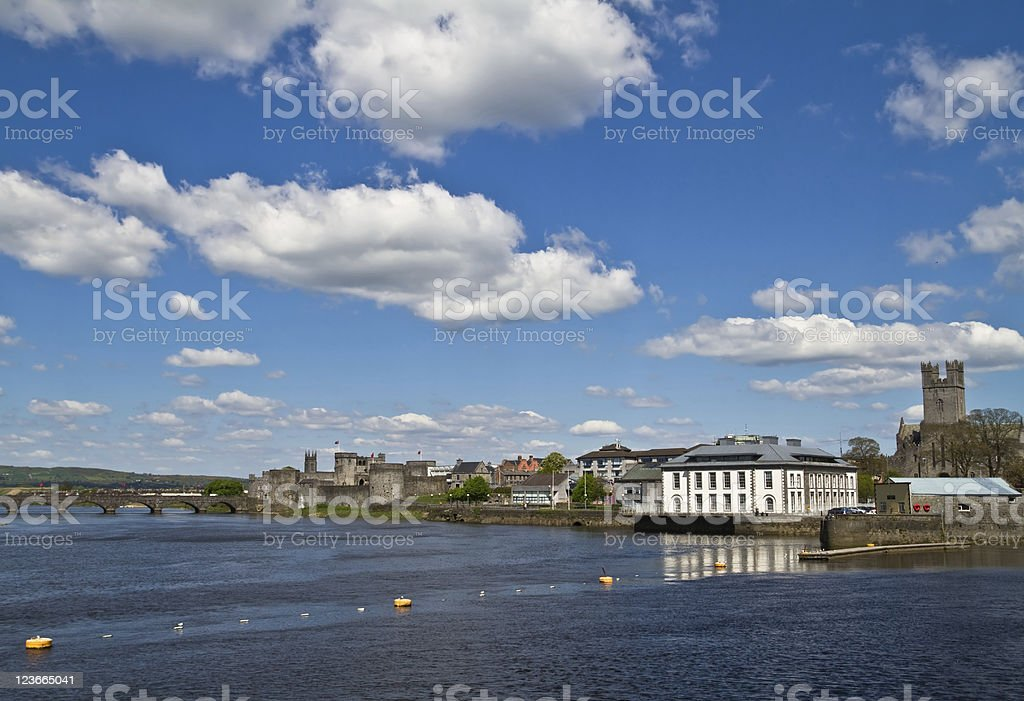 Limerick river view stock photo