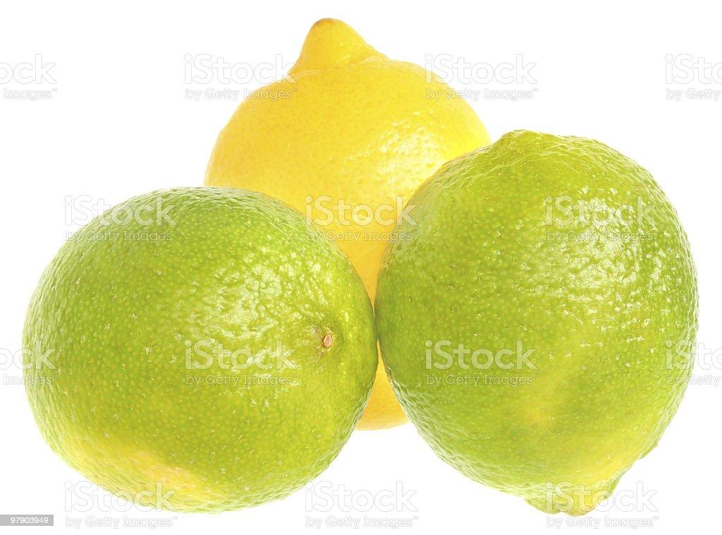 Limes and lemons. royalty-free stock photo