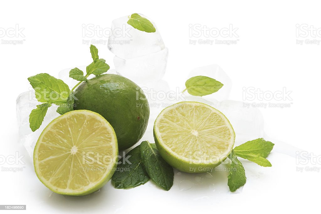 Limes and mint. royalty-free stock photo