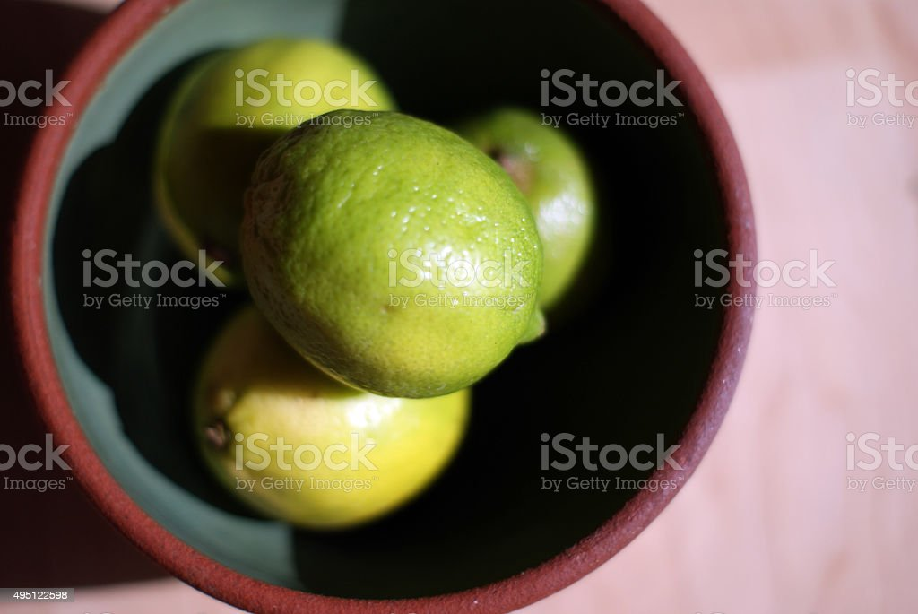 Limes in a Bowl stock photo