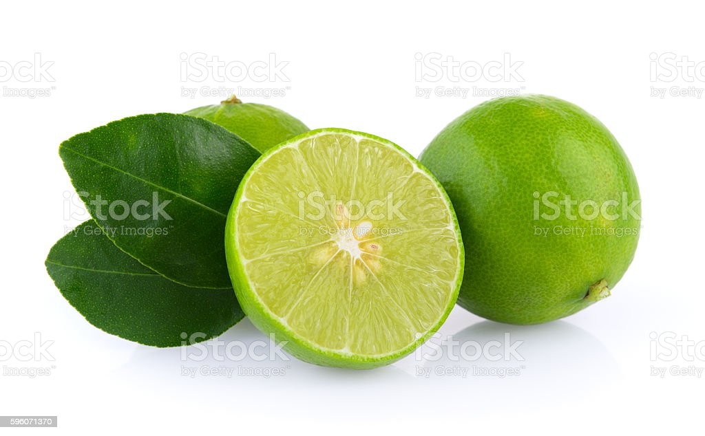limes on white background royalty-free stock photo