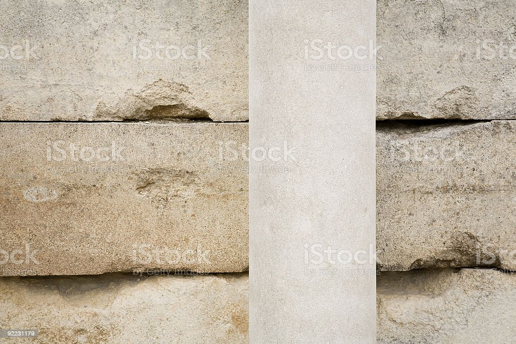Limestone and Vertical Column royalty-free stock photo