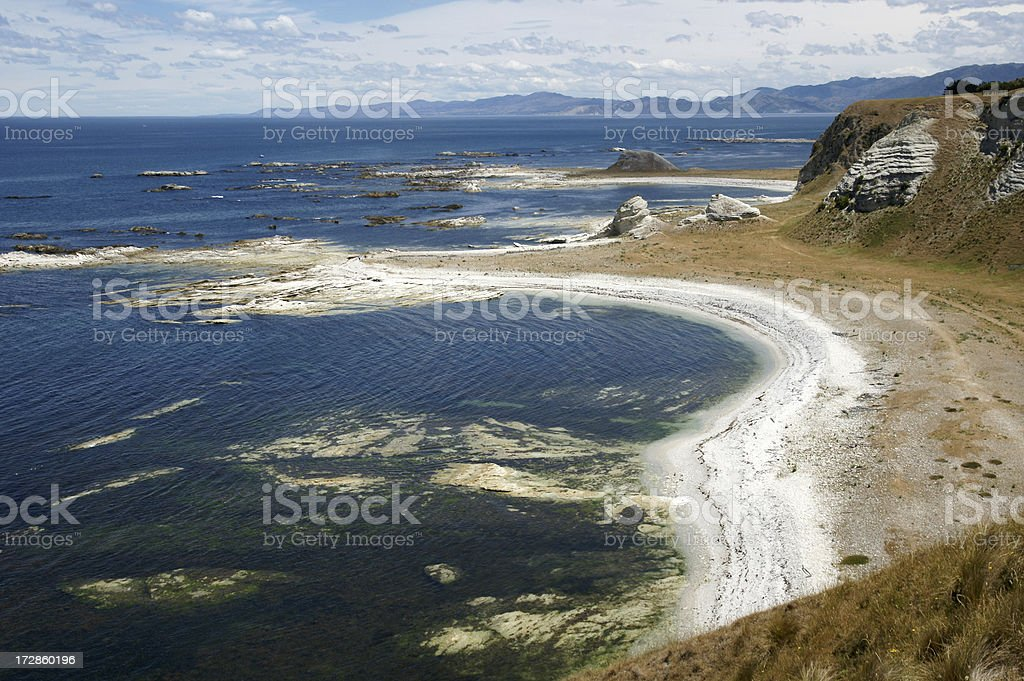Limestone beach royalty-free stock photo