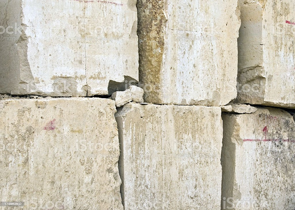 Limestone blocks cut from quarry in Minnesota royalty-free stock photo
