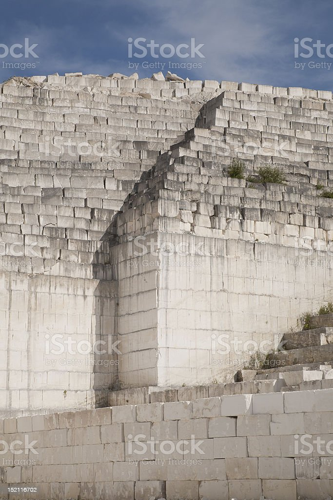 Limestone Blocks in a Quarry stock photo