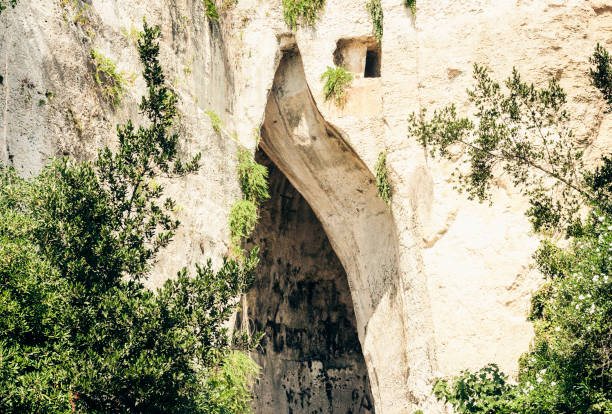 Limestone Cave Ear of Dionysius (Orecchio di Dionisio) with unusual acoustics