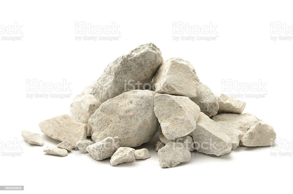 Limestone chippings stock photo