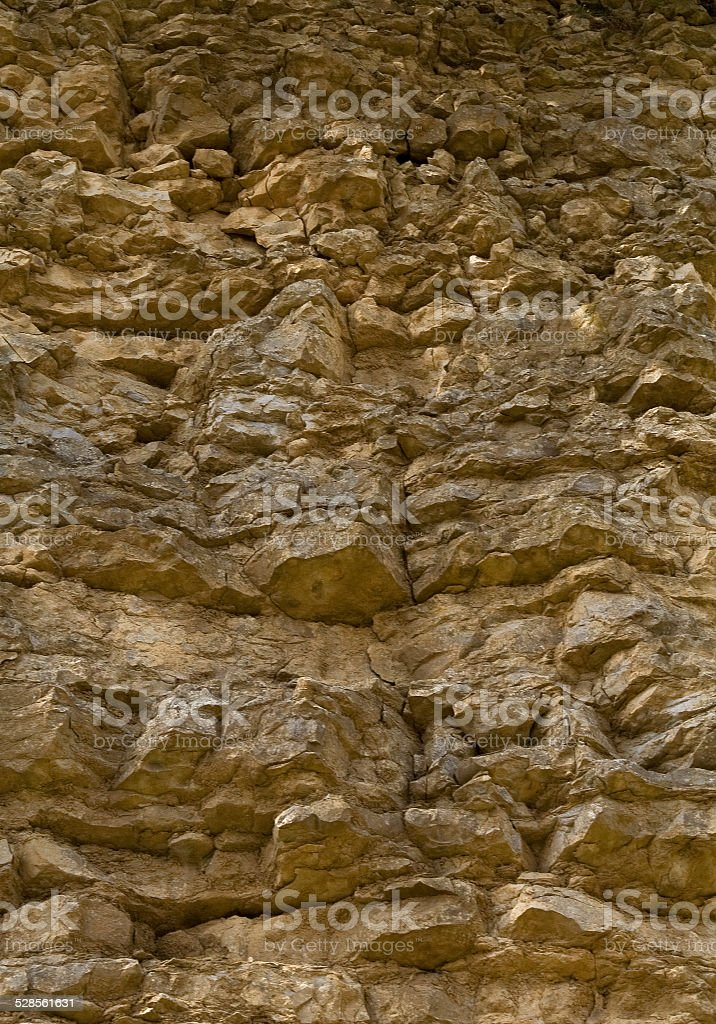 Limestone cliff face stock photo