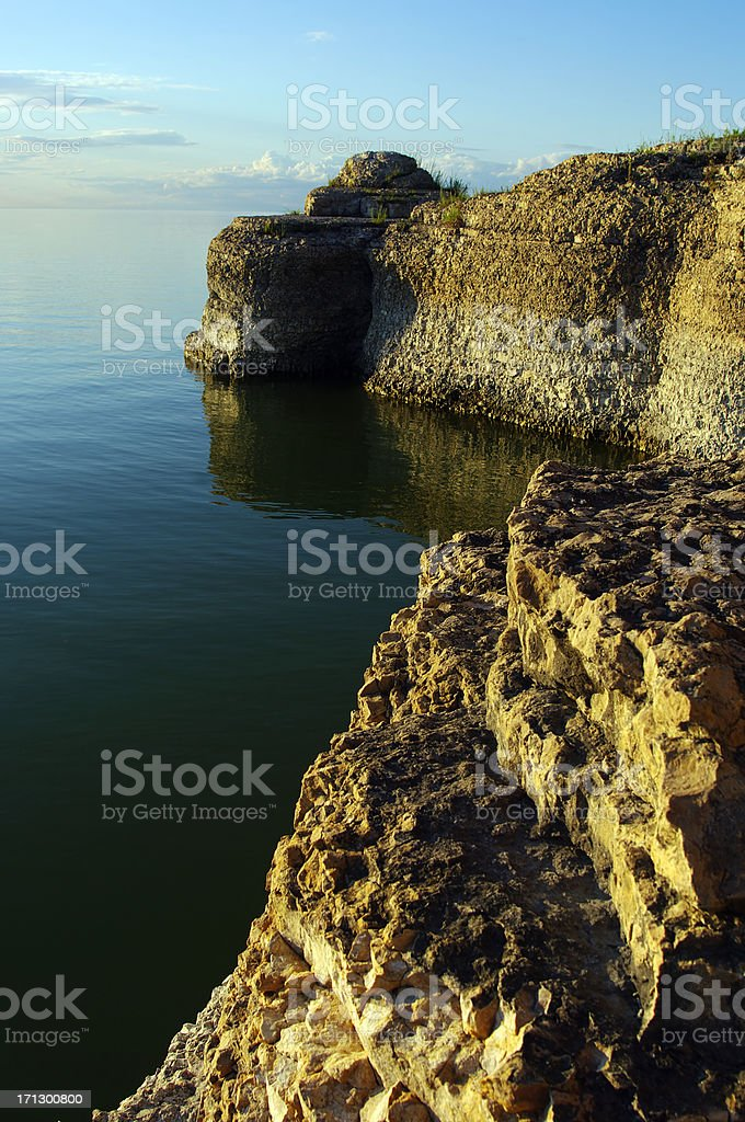 Limestone Cliffs stock photo