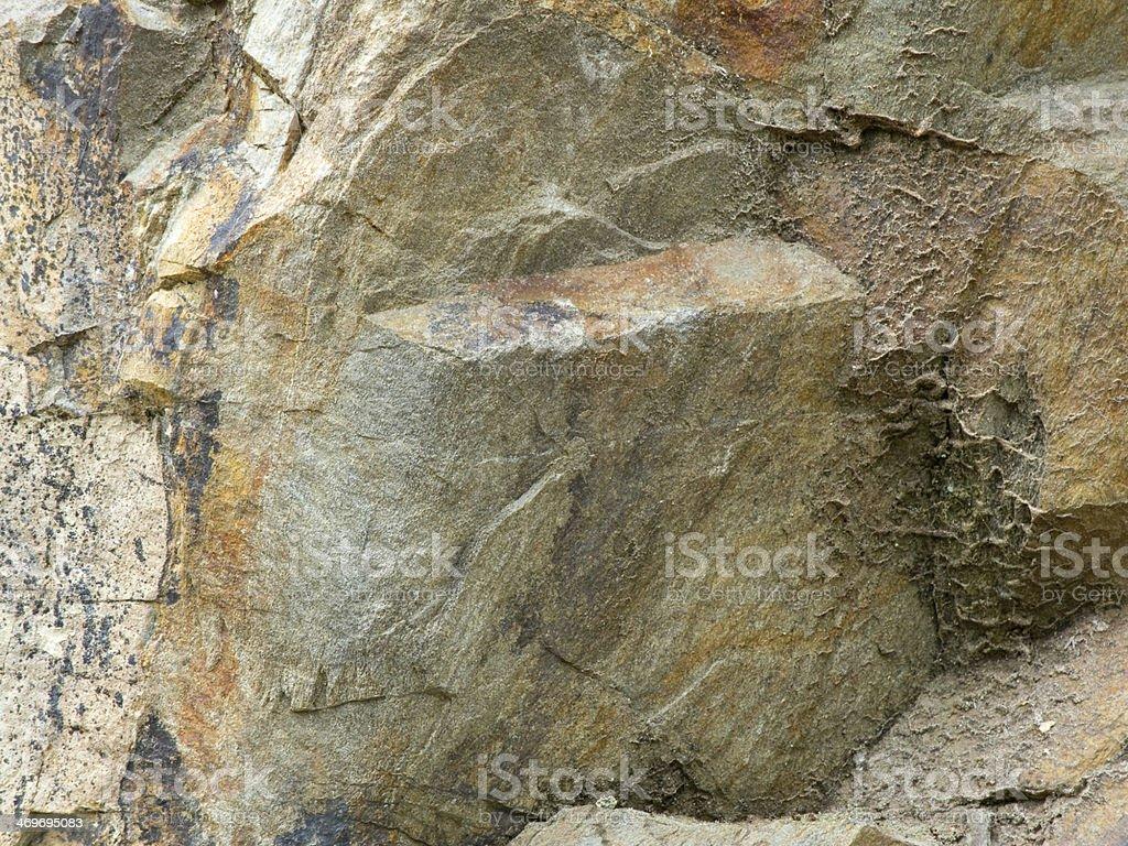 limestone fracture stock photo