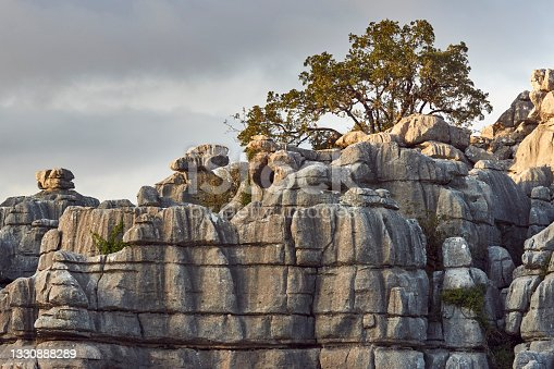 istock limestone geological formations, in the Torcal de Antequera natural park, Malaga 1330888289