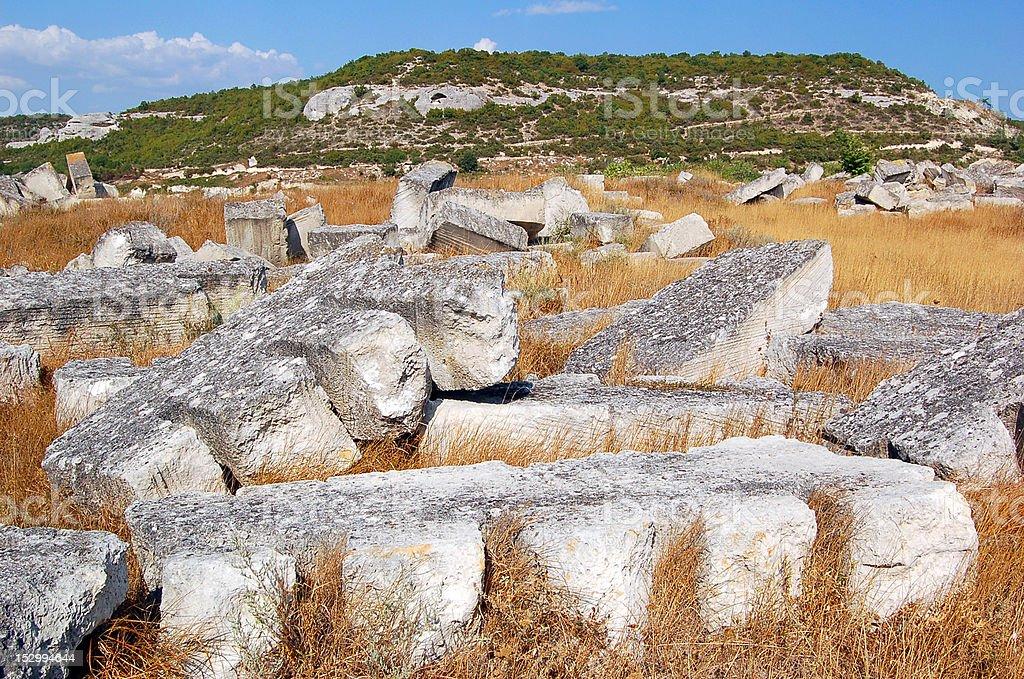 Limestone in quarry stock photo
