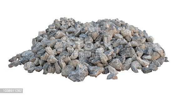 Limestone isolated on white background.