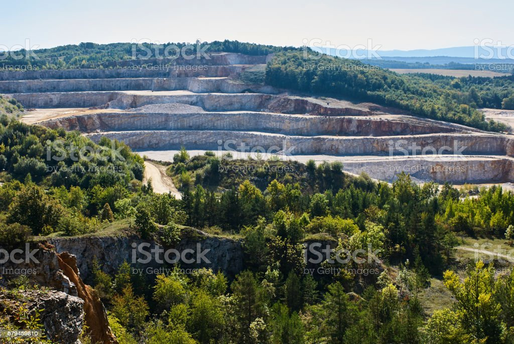 Limestone Mine In Koneprusy Czech Republic Deep Opencast