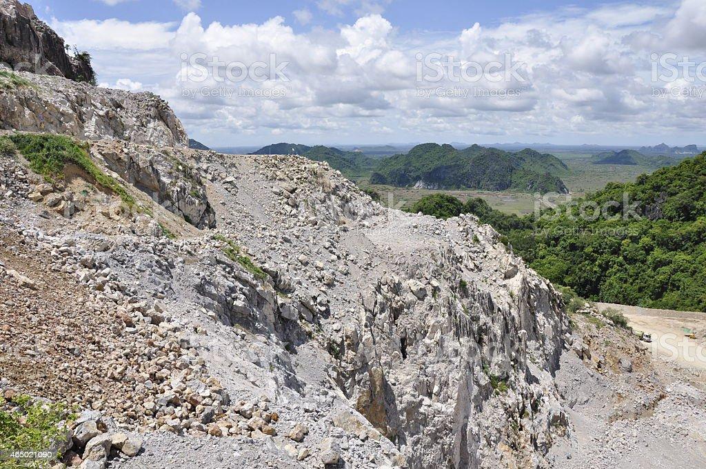 Limestone Quarry Cambodia Stock Photo & More Pictures of