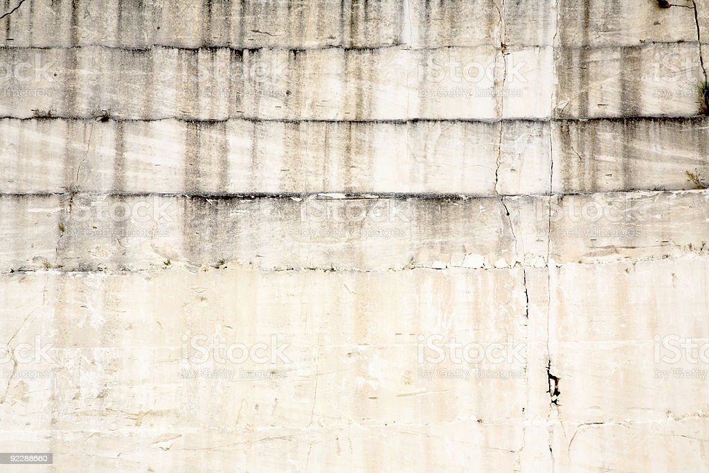 Limestone Quarry Wall royalty-free stock photo