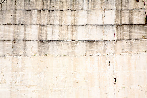Limestone Quarry Wall stock photo