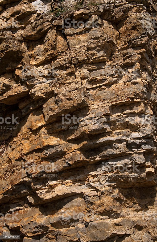 Limestone rock face stock photo
