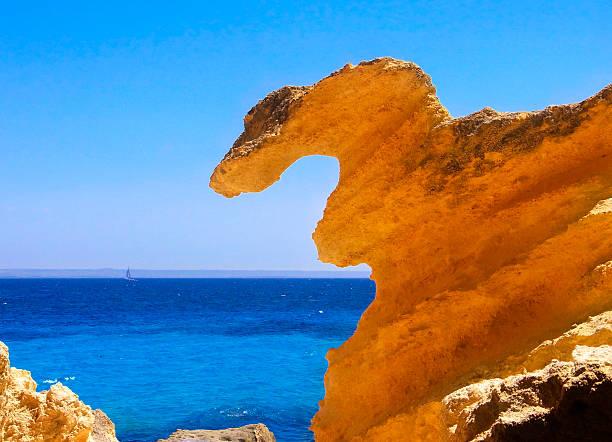 Limestone rock in Favignana (Sicily) stock photo
