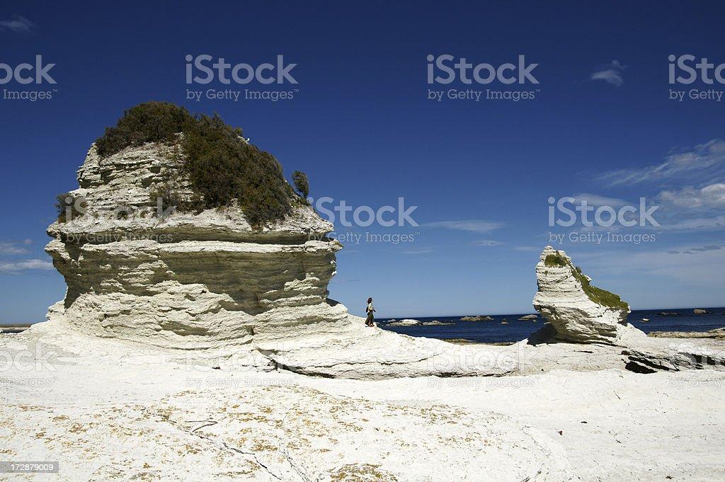 Limestone rocks at the coast. royalty-free stock photo