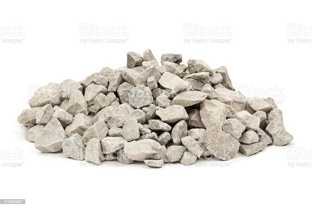 Limestone Rocks Isolated stock photo
