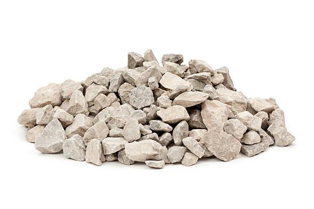limestone rocks isolated - grind stockfoto's en -beelden