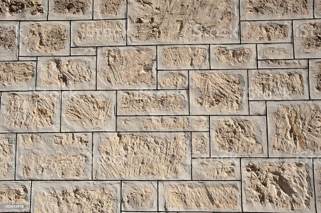 Limestone wall close up stock photo