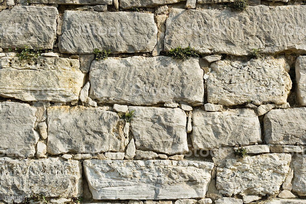 Limestone Wall royalty-free stock photo
