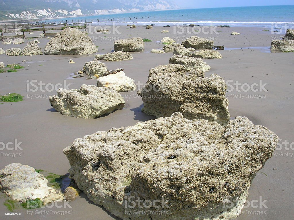 limestones on the beach royalty-free stock photo