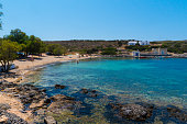 A beach in Kythera island in Greece