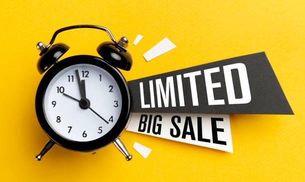 Limited Big Sale stock photo