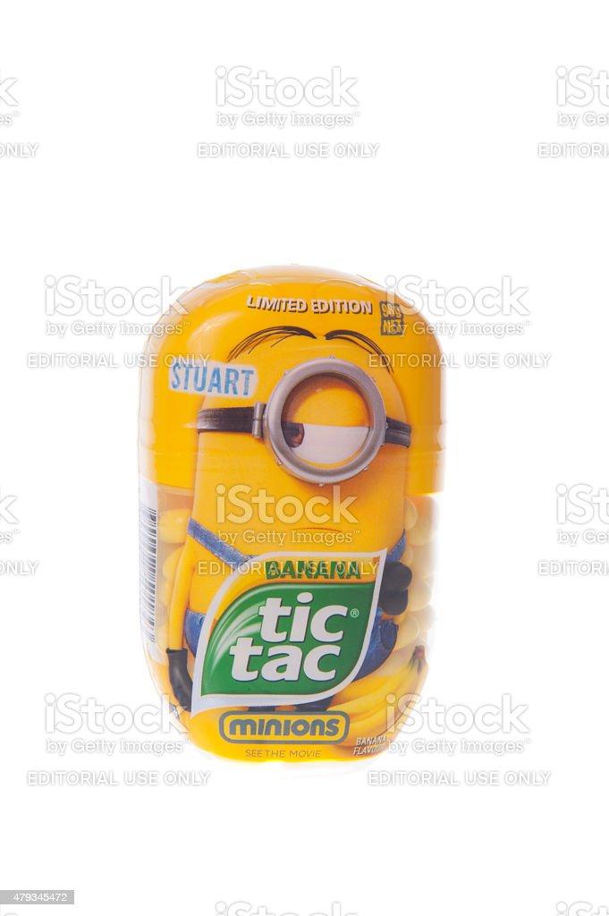 Limited Edition Minion Tic tac stock photo