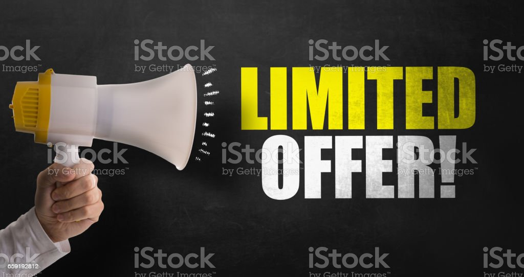 Limited Offer stock photo