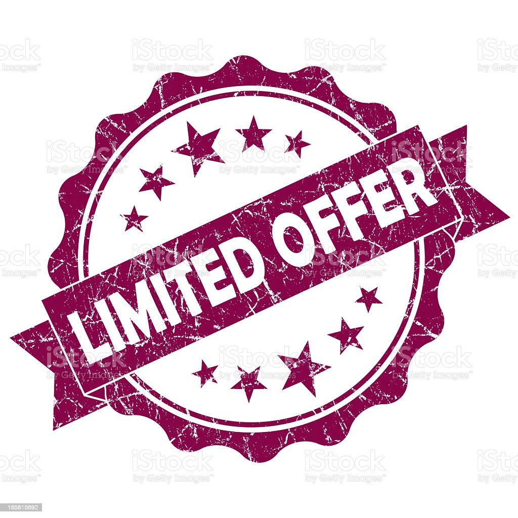 limited offer pink round seal royalty-free stock photo