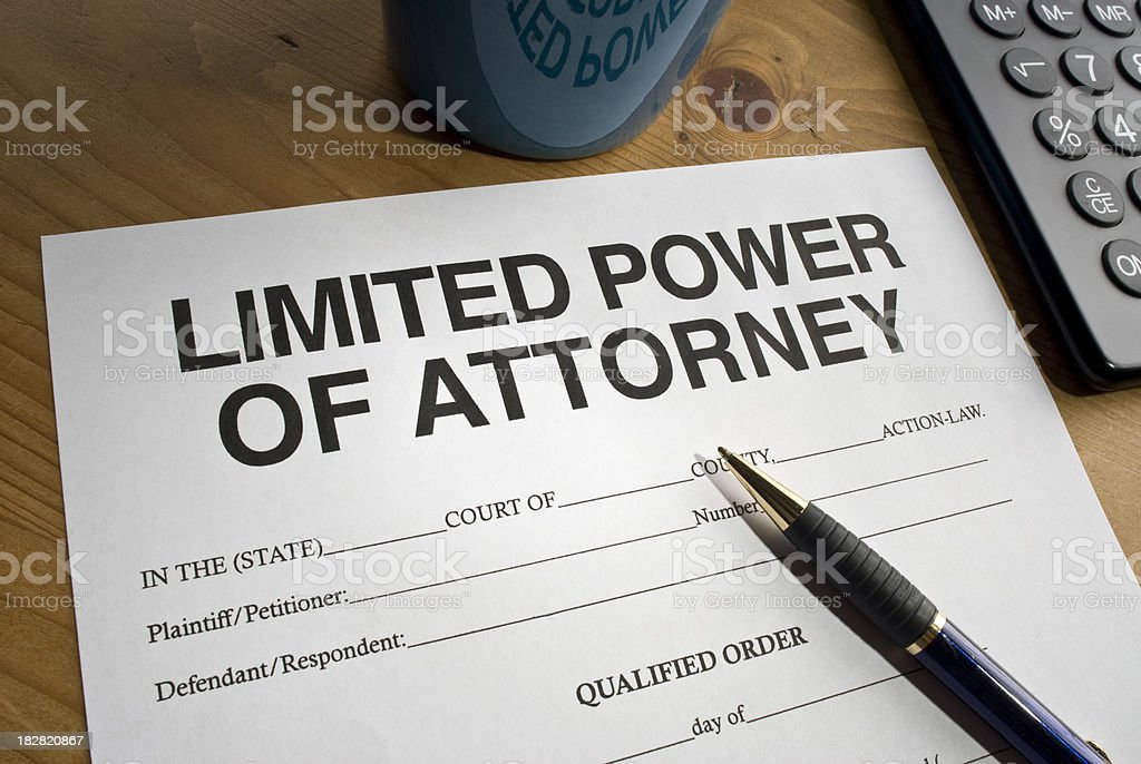 Limited Power of Attorney royalty-free stock photo