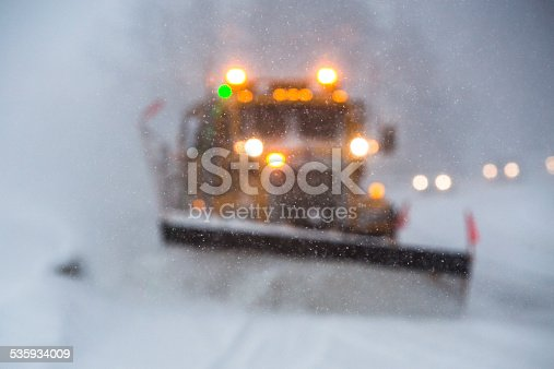 536171925 istock photo Limited visibility during snow storm. 535934009