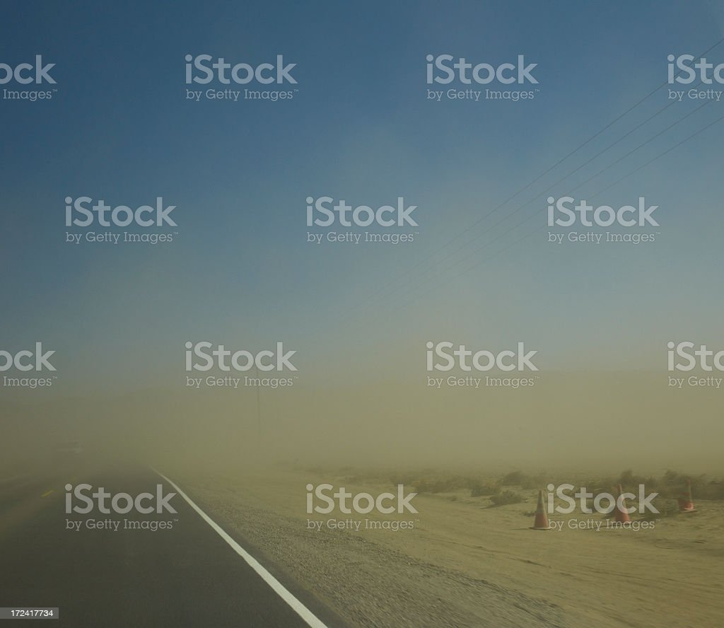 Limited visibility royalty-free stock photo