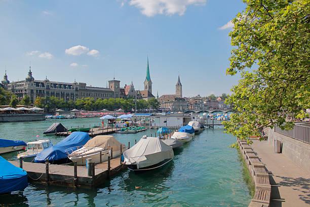 Limmat river in Zurich.